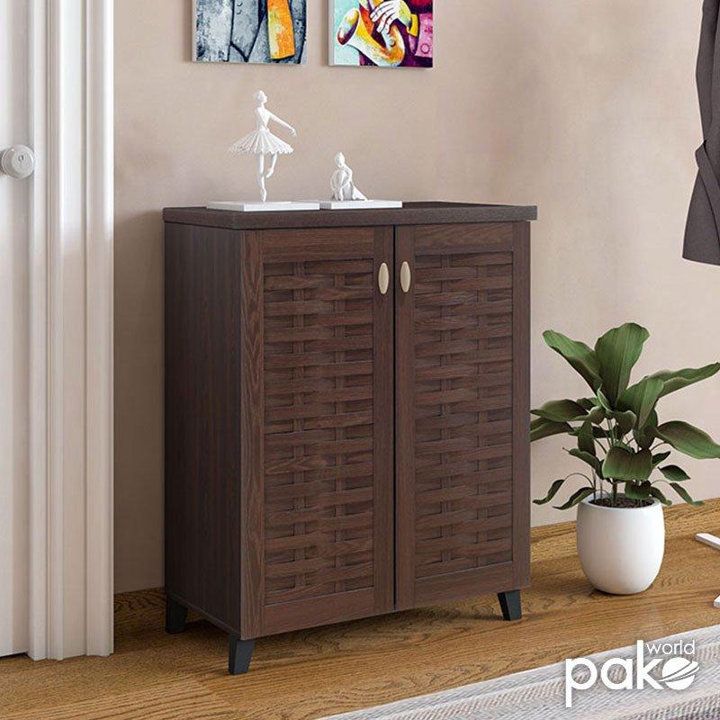 Παπουτσοθήκη-ντουλάπι MANTAM pakoworld 12 ζεύγων χρώμα καρυδί 78x40x92εκ