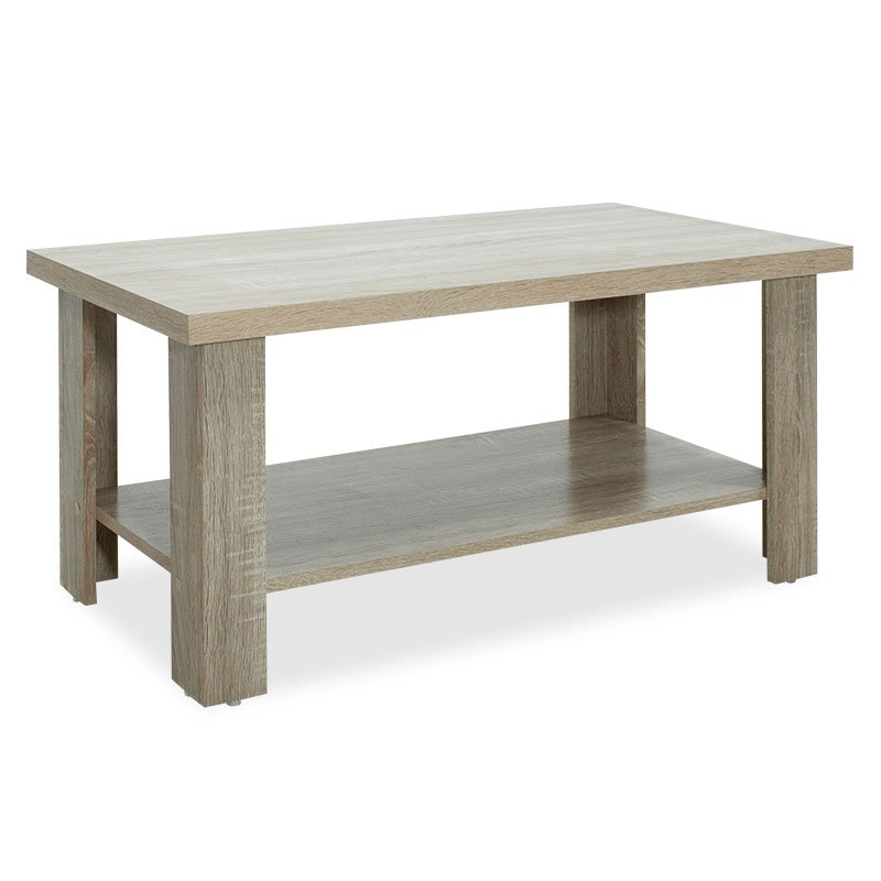 Τραπέζι σαλονιού RIANO pakoworld χρώμα sonoma 89,5x49,5x42,5εκ