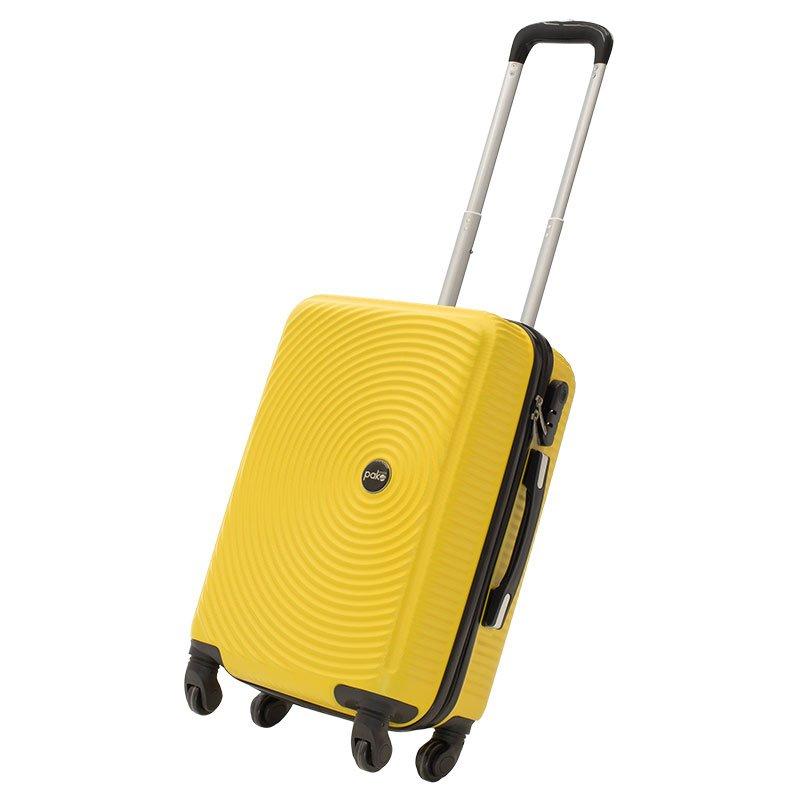 Βαλίτσα καμπίνας  Polar pakoworld με 4 ρόδες σκληρή από ABS+PC κίτρινο 38x22,5x57εκ