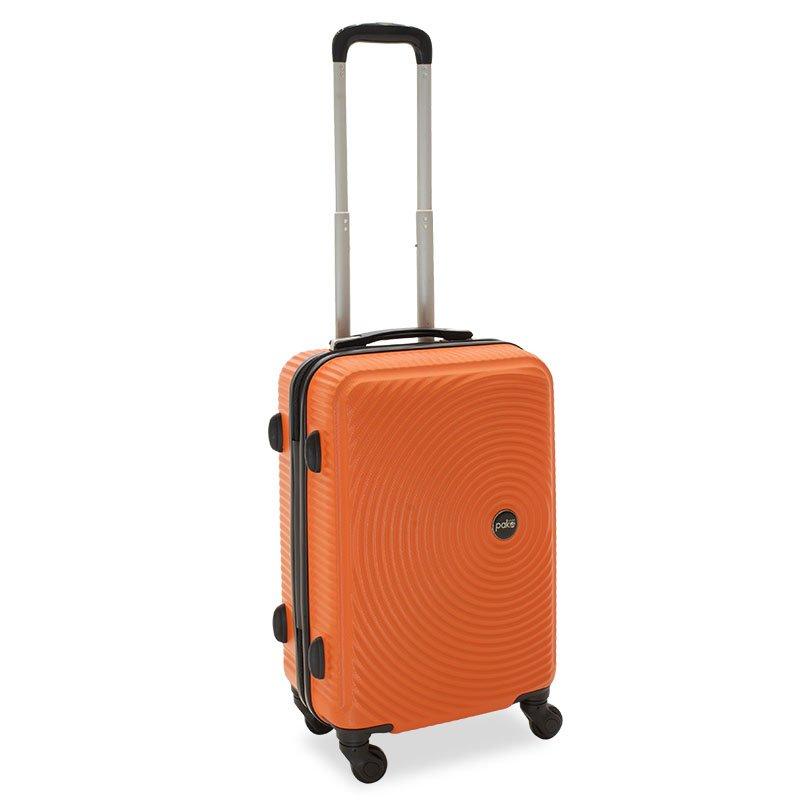 Βαλίτσα καμπίνας  Polar pakoworld με 4 ρόδες σκληρή από ABS+PC πορτοκαλί 38x22,5x57εκ