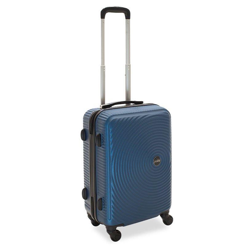 Βαλίτσα καμπίνας  Polar pakoworld με 4 ρόδες σκληρή από ABS+PC μπλε 38x22,5x57εκ