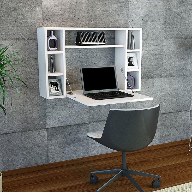 Γραφείο τοίχου Omega pakoworld ανοιγόμενο λευκό 90x20+(56)x60