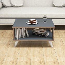 Τραπέζι σαλονιού Negro pakoworld σε χρώμα ανθρακί 70x50x40εκ