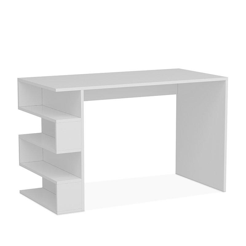 Γραφείο Limber pakoworld χρώμα λευκό 120x60x75εκ