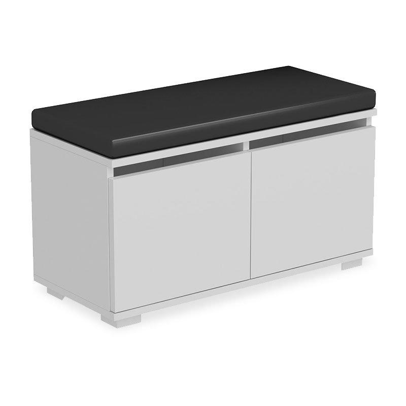 Παπουτσοθήκη-Σκαμπό Drago pakoworld 8 ζεύγων χρώμα λευκό με μαξιλάρι 80x35x45εκ