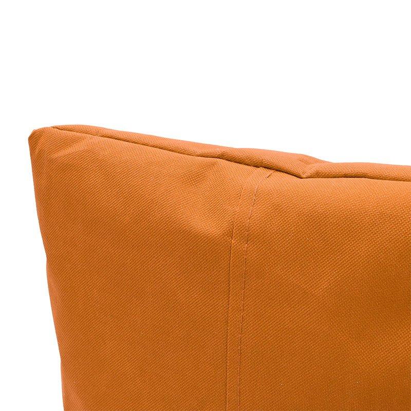 Πουφ πολυθρόνα Norm pakoworld υφασμάτινο αδιάβροχο πορτοκαλί
