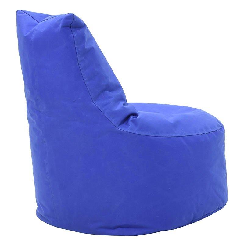 Πουφ πολυθρόνα Norm pakoworld υφασμάτινο αδιάβροχο μπλε