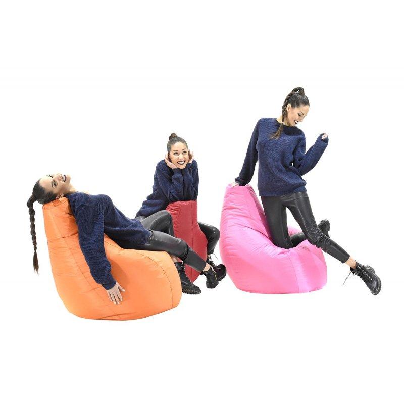 Πουφ πολυθρόνα Eco pakoworld επαγγελματικό 100% αδιάβροχο κόκκινο