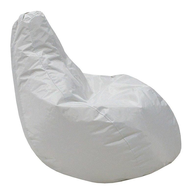 Πουφ πολυθρόνα Eco pakoworld επαγγελματικό 100% αδιάβροχο λευκό