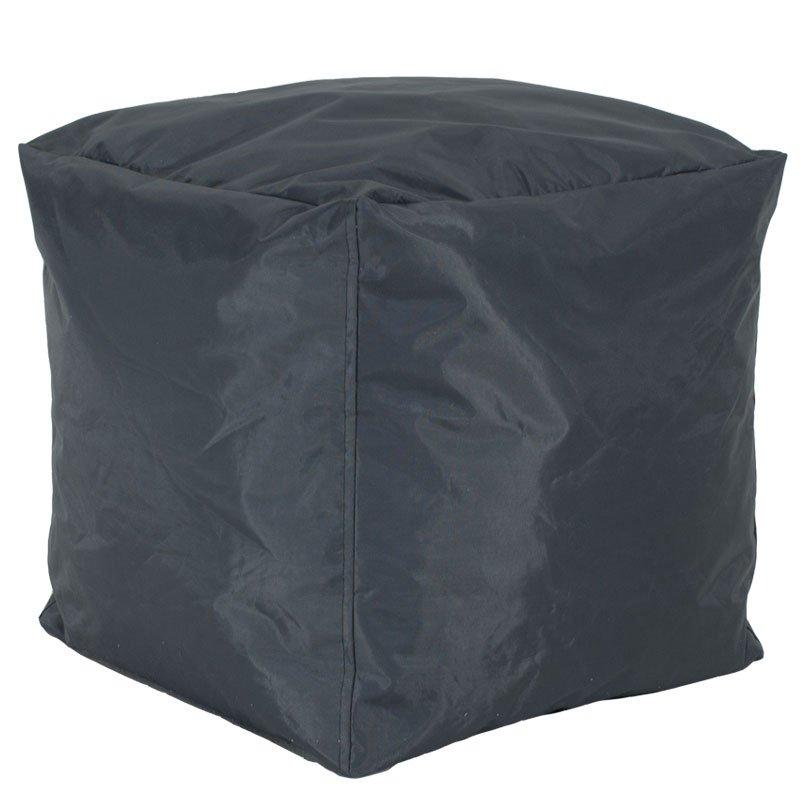 Πουφ σκαμπό Cube pakoworld επαγγελματικό με ανθρακί αποσπώμενο 100% αδιάβροχο κάλυμμα