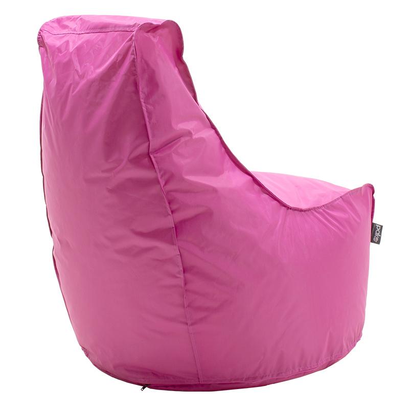 Πουφ πολυθρόνα Bolt pakoworld επαγγελματική με ροζ αποσπώμενο 100% αδιάβροχο κάλυμμα