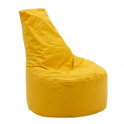 Πουφ πολυθρόνα Norm PRO pakoworld επαγγελματικό 100% αδιάβροχο κίτρινο
