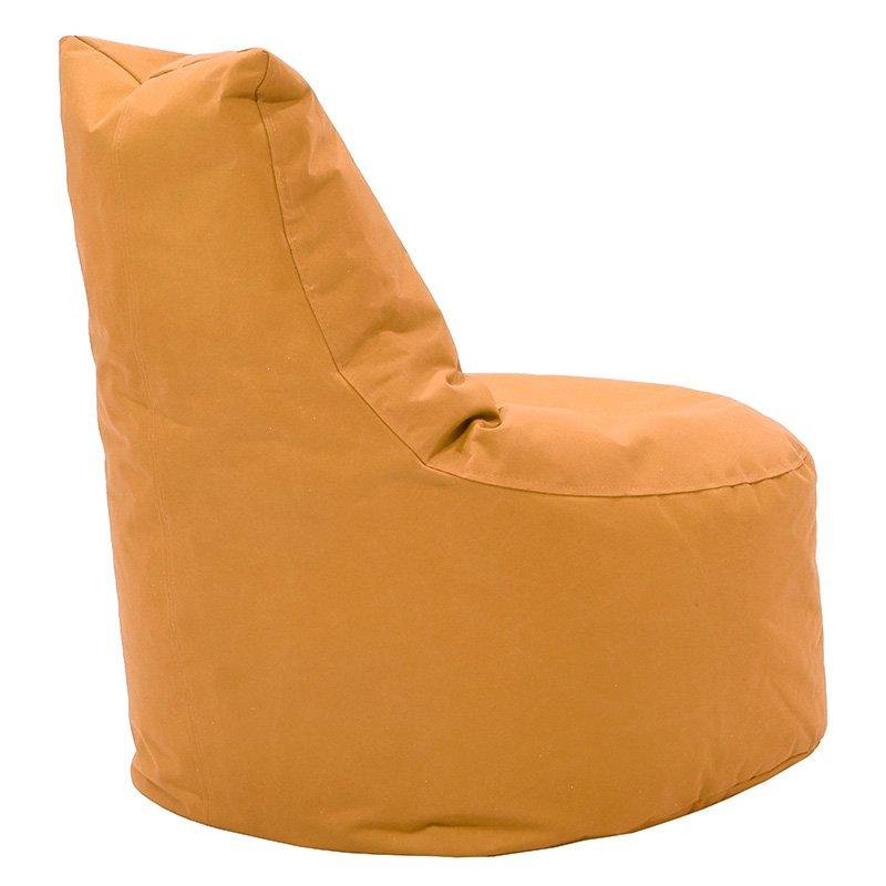 Πουφ πολυθρόνα Norm pakoworld υφασμάτινο αδιάβροχο ανοιχτό πορτοκαλί