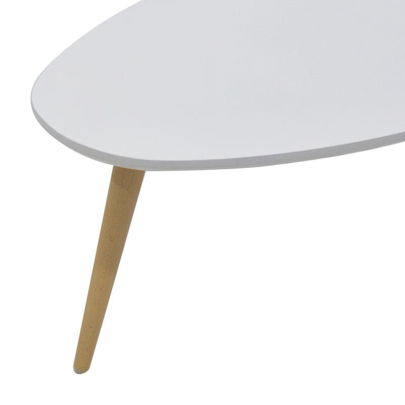 Τραπέζι σαλονιού HAMILTON pakoworld χρώμα λευκό-φυσικό 89x48x33εκ