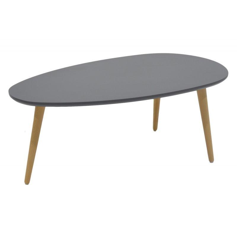 Τραπέζι σαλονιού HAMILTON pakoworld χρώμα ανθρακί φυσικό 89x48x33εκ