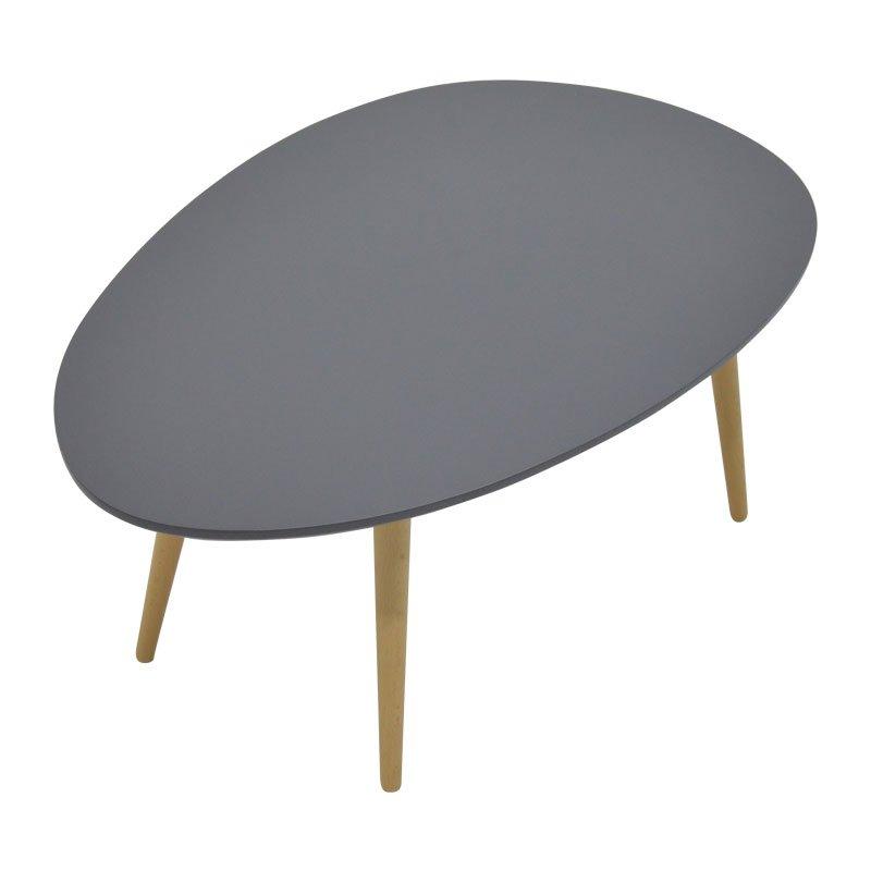 Τραπέζι σαλονιού HAMILTON pakoworld χρώμα ανθρακί φυσικό 98x60x38εκ