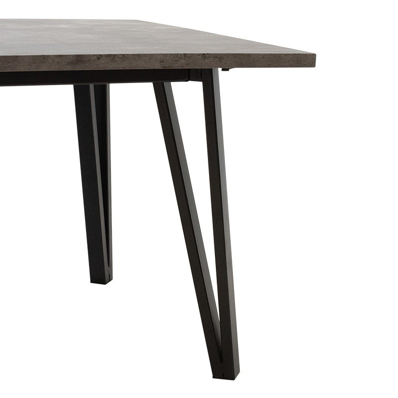 Τραπέζι σαλονιού Justin pakoworld MDF μεταλλικό γκρι cement-μαύρο 120x60x45εκ