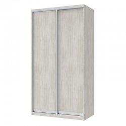 Ντουλάπα ρούχων Pallas pakoworld δίφυλλη συρόμενη λευκό-γκρι 120x60x225εκ