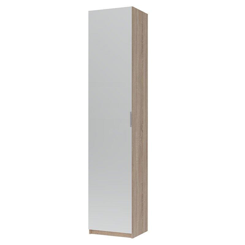 Παπουτσοθήκη Eliot pakoworld με καθρέπτη 12 ζεύγων χρώμα sonoma 45x38x210εκ