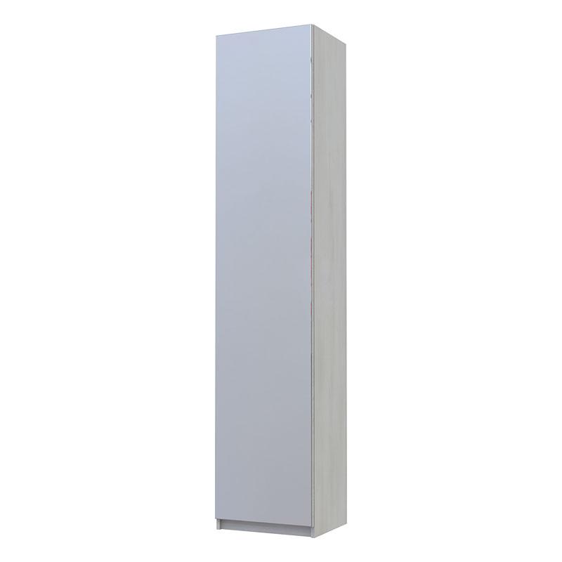 Παπουτσοθήκη Eliot pakoworld με καθρέπτη 12 ζεύγων χρώμα λευκό-γκρι 45x38x210εκ