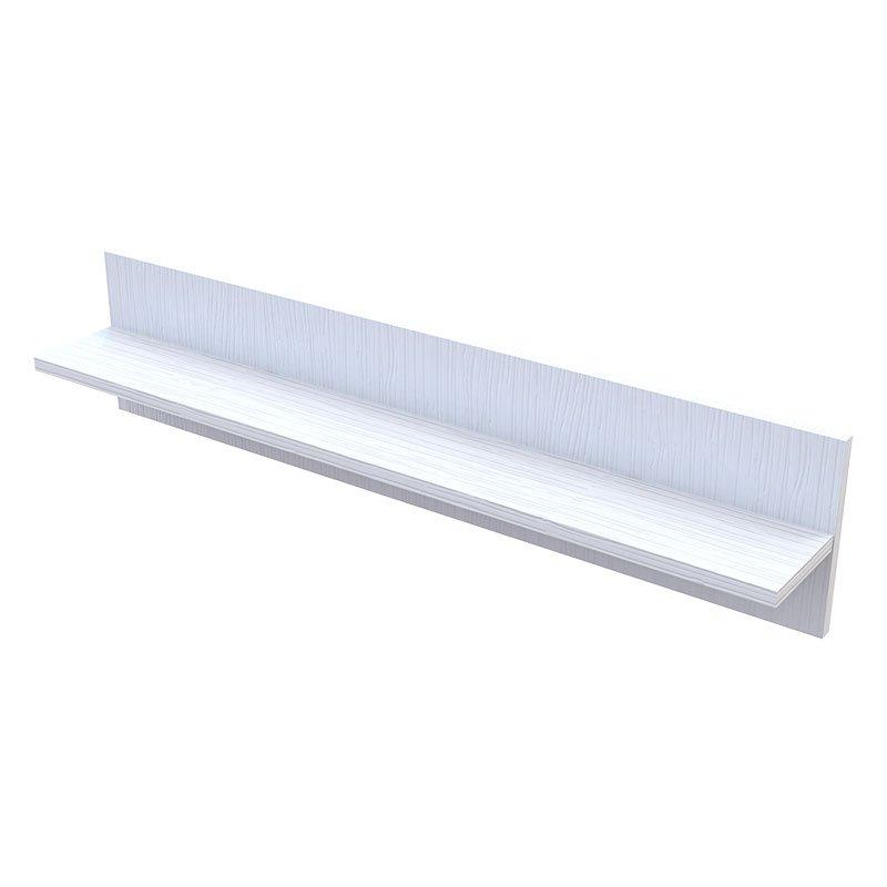 Ραφιέρα τοίχου Landy pakoworld λευκό 90x13,5x20εκ