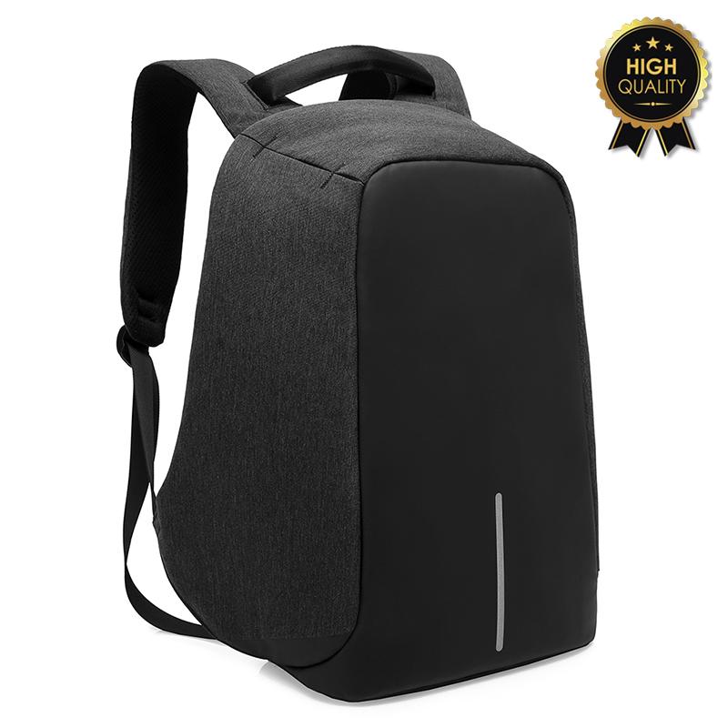 Σακίδιο πλάτης αντικλεπτικό TRV-001 pakoworld μαύρο με usb+Laptop 15,6''