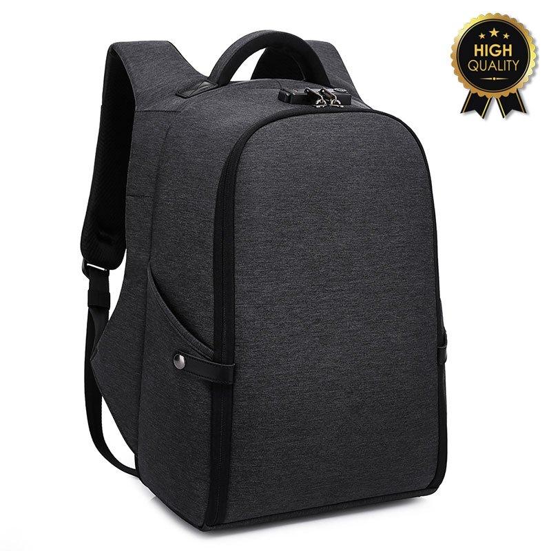 Σακίδιο πλάτης αντικλεπτικό TRV-005 pakoworld μαύρο usb-lock laptop 15,6''