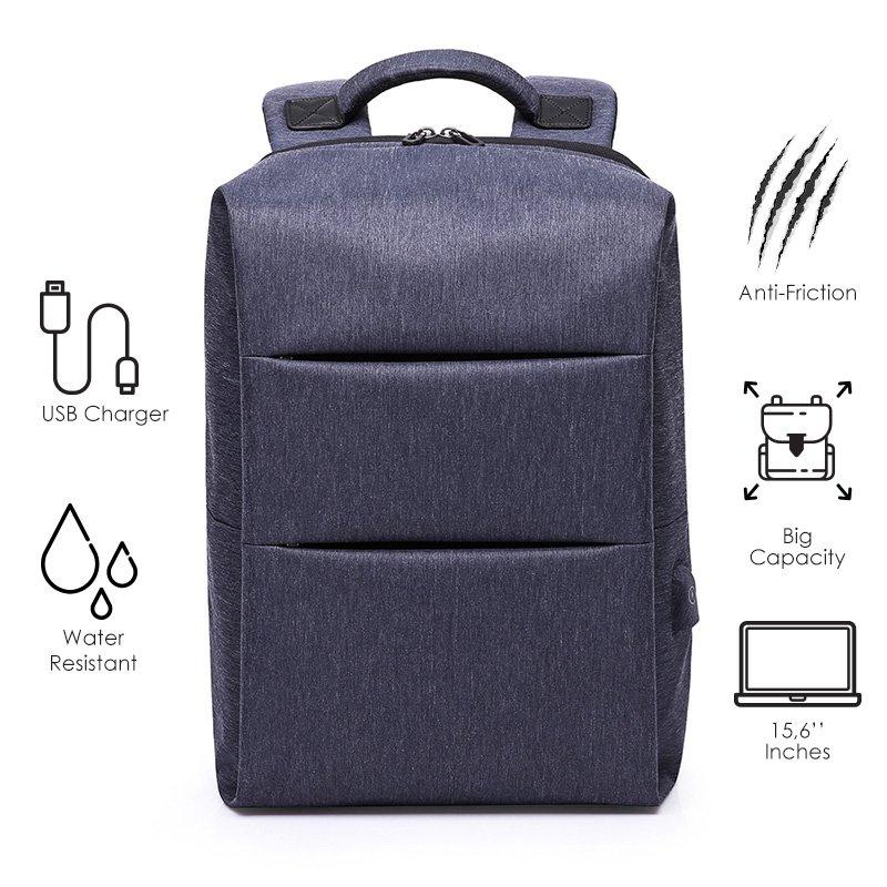 Σακίδιο πλάτης TRV-007 pakoworld μπλε με usb για Laptop 15,6''