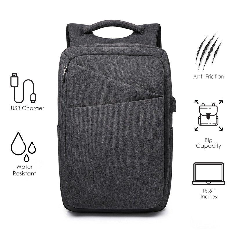 Σακίδιο πλάτης TRV-009 pakoworld μαύρο με usb για Laptop 15,6''