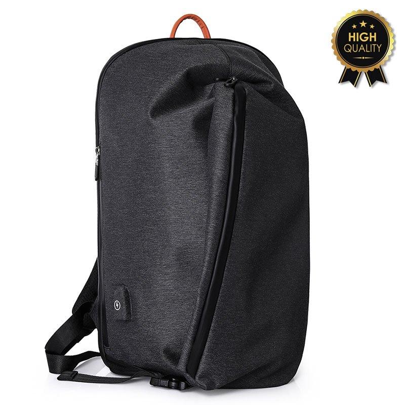 Σακίδιο πλάτης αντικλεπτικό TRV-010 pakoworld μαύρο με usb+Laptop 15,6''