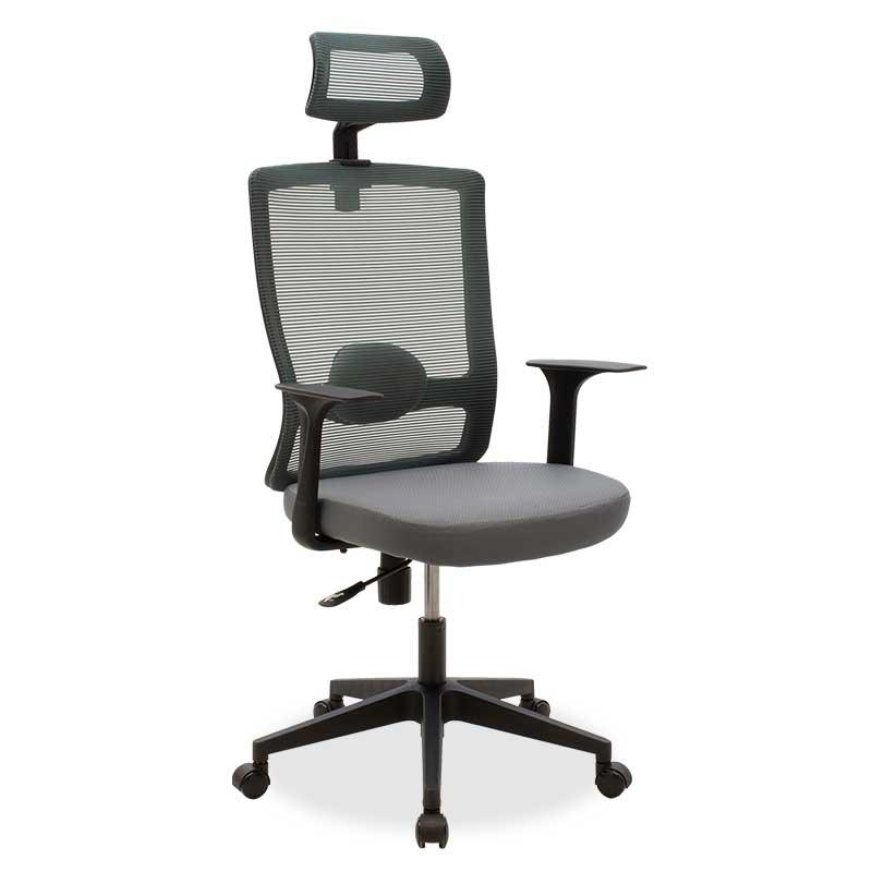 Καρέκλα γραφείου διευθυντή Oregon pakoworld με ύφασμα mesh χρώμα ανθρακί