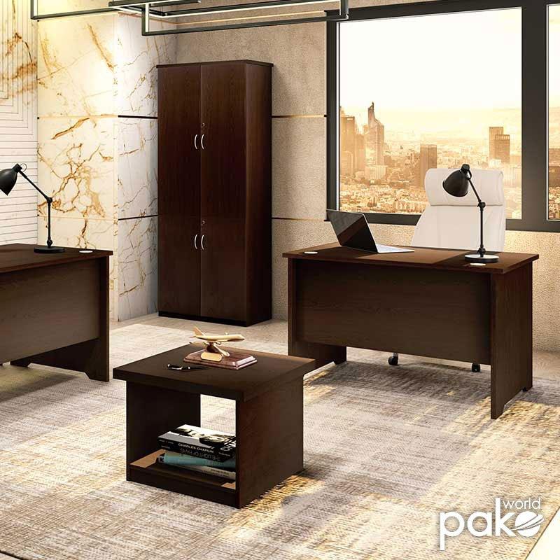Γραφείο εργασίας επαγγελματικό Amazon pakoworld χρώμα καρυδί 120x75x75εκ