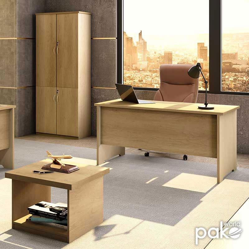 Γραφείο εργασίας επαγγελματικό Amazon pakoworld χρώμα sonoma 150x75x75εκ
