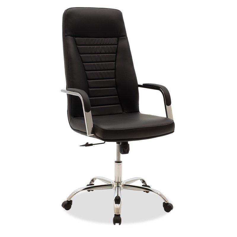 Καρέκλα γραφείου διευθυντή Paolo pakoworld pu μαύρο