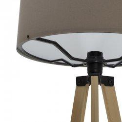 Φωτιστικό δαπέδου PWL-0002 pakoworld πόδια sonoma-μόκα υφασμάτινο καπέλο Φ38x140εκ