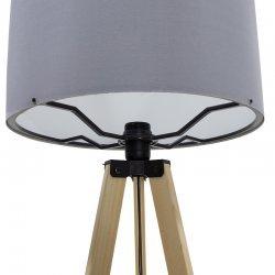 Φωτιστικό δαπέδου PWL-0002 pakoworld πόδια sonoma-γκρι pvc καπέλο Φ38x140εκ