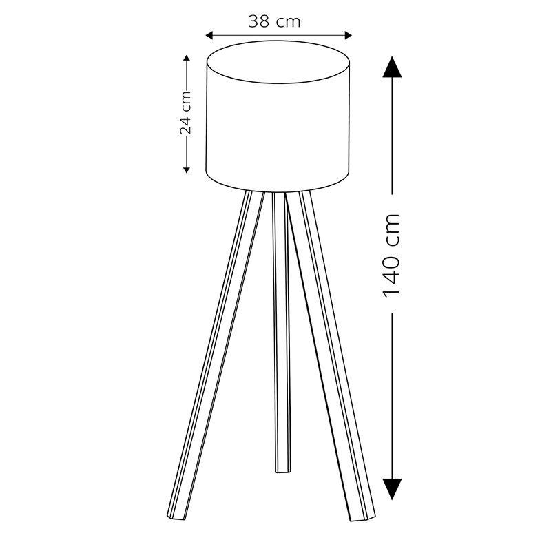 Φωτιστικό δαπέδου PWL-0002 pakoworld πόδια sonoma-κρεμ pvc καπέλο Φ38x140εκ