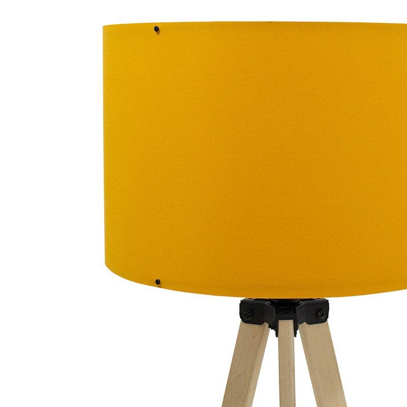 Φωτιστικό δαπέδου PWL-0002 pakoworldΕ27 πόδια sonoma-μουσταρδί υφασμάτινο καπέλο Φ38x140εκ