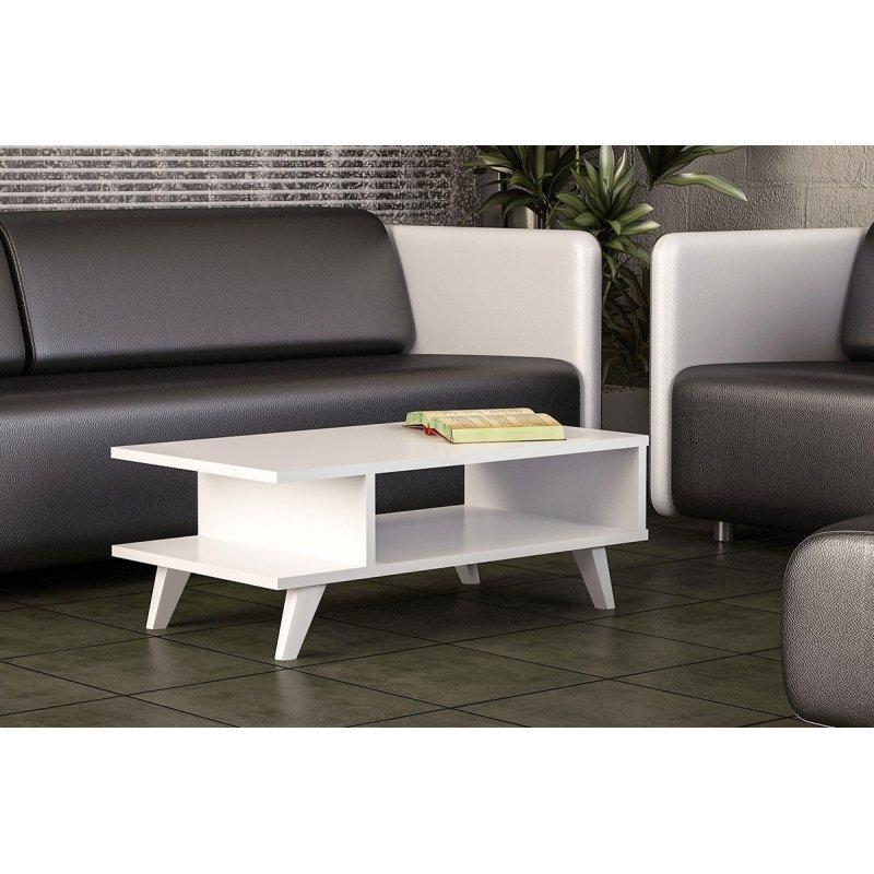 Τραπέζι σαλονιού PWF-0067 pakoworld χρώμα λευκό 80x45x30εκ