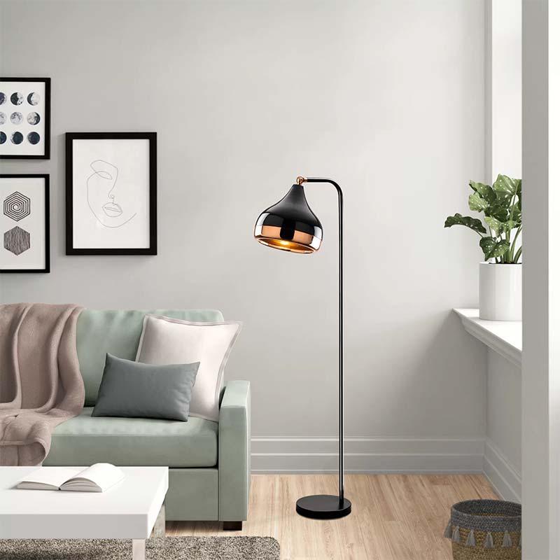 Φωτιστικό δαπέδου PWL-0068 pakoworld E27 χρώμα μαύρο-μπρονζέ 30x17x120εκ