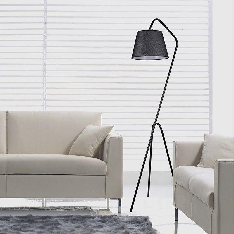 Μεταλλικό φωτιστικό δαπέδου PWL-0123 pakoworld E27 χρώμα μαύρο  30x50x165εκ