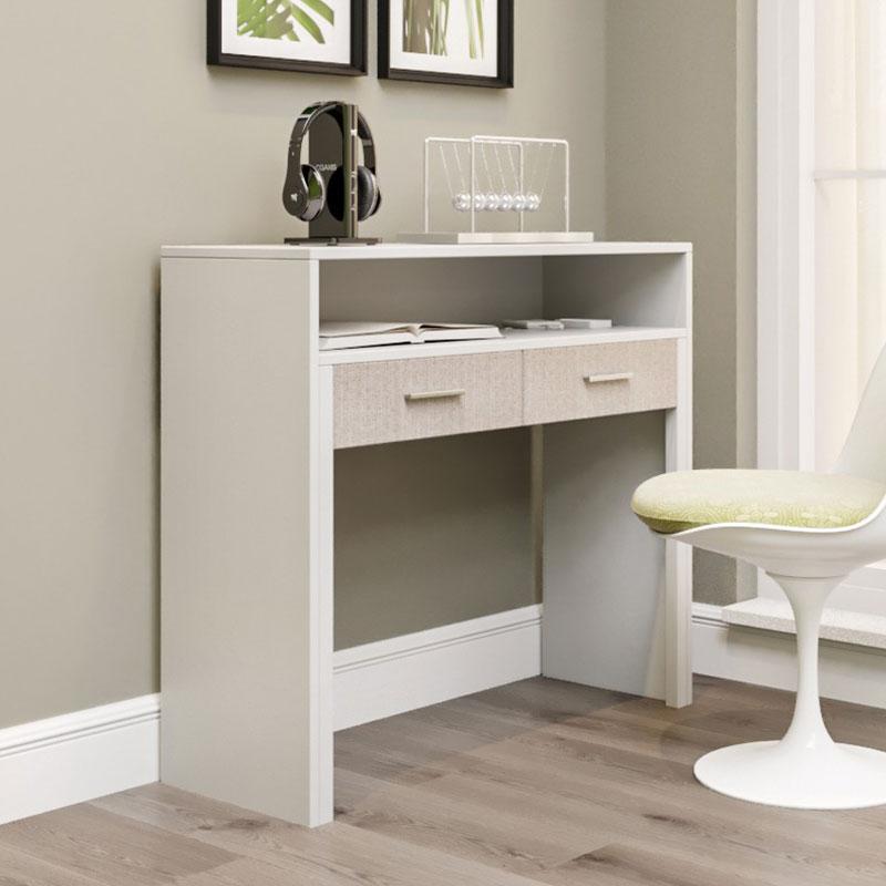 Κονσόλα - γραφείο PWF-0330 pakoworld επεκτεινόμενο χρώμα λευκό 99x36-66x88εκ