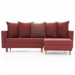 Καναπές κρεβάτι PWF-343 αριστερή γωνία ύφασμα κεραμιδί 215x135x80εκ