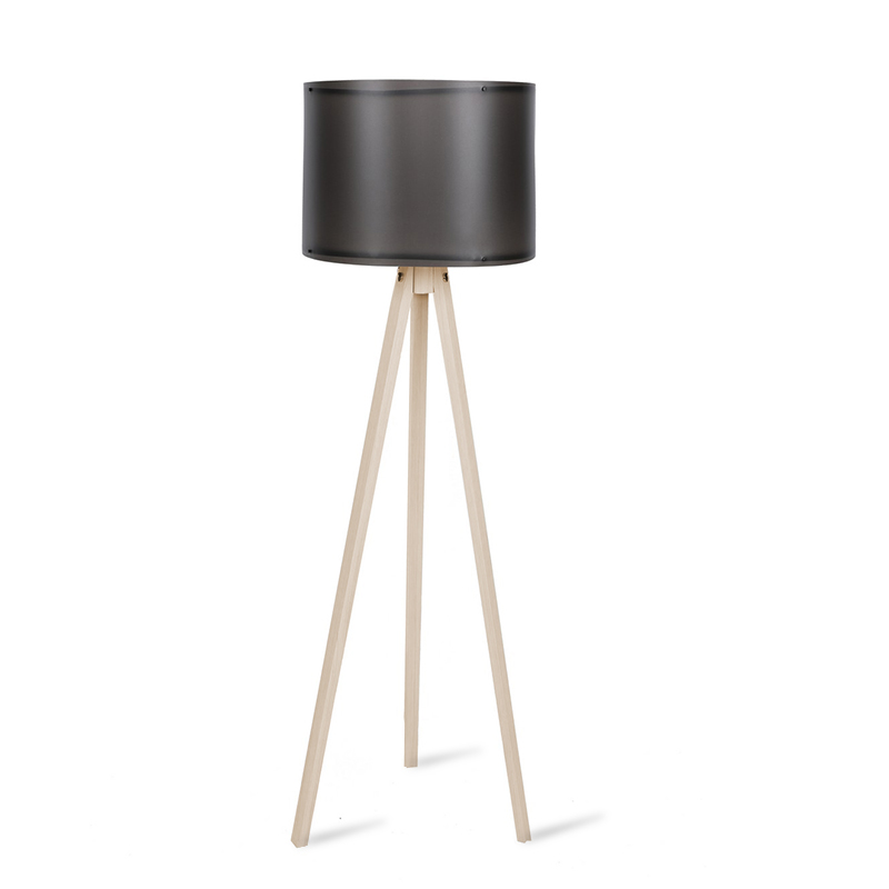 Φωτιστικό δαπέδου PWL-0164 pakoworld πόδια sonoma-μαύρο PVC καπέλο Φ37x147εκ