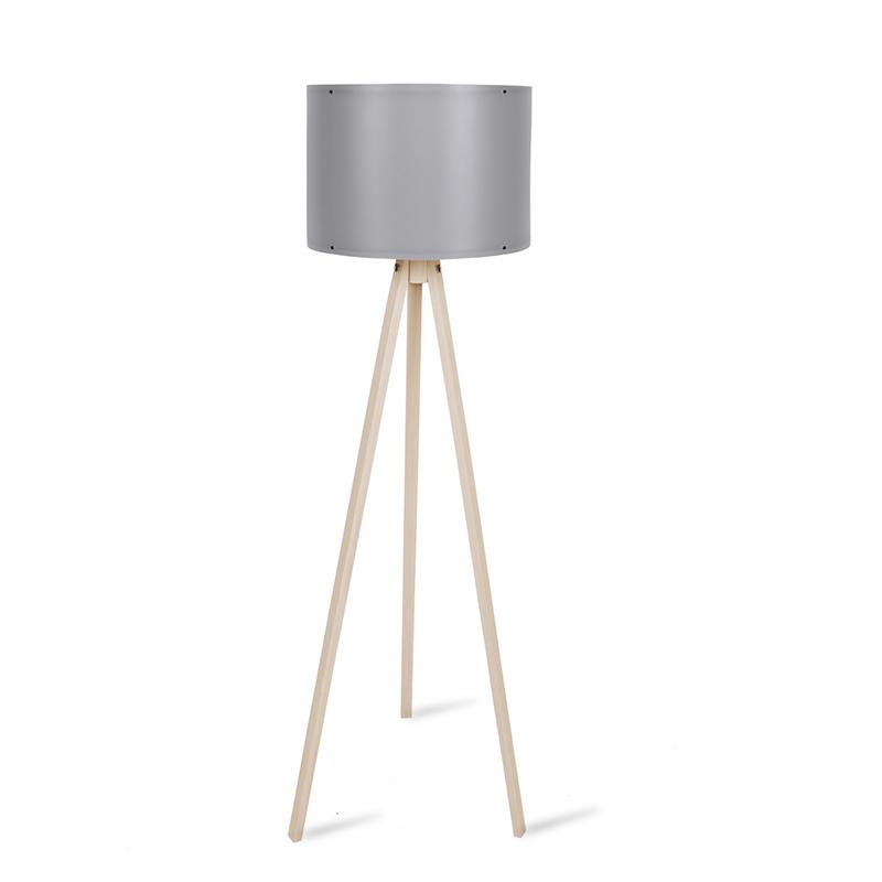 Φωτιστικό δαπέδου PWL-0164 pakoworld πόδια sonoma-γκρι PVC καπέλο Φ37x147εκ