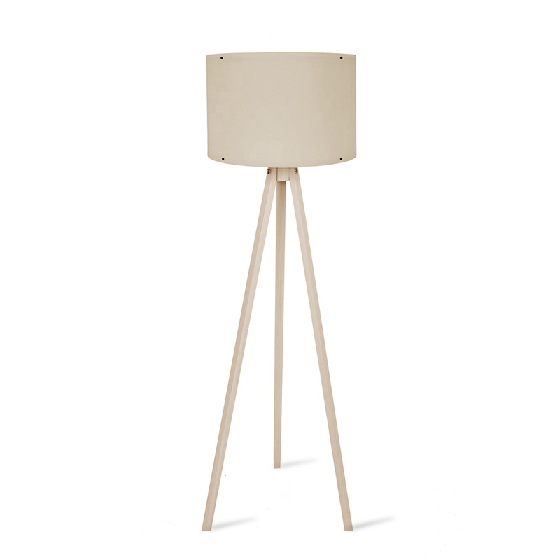 Φωτιστικό δαπέδου PWL-0164 pakoworld πόδια sonoma-cream PVC καπέλο Φ37x147εκ