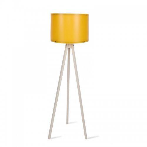 Φωτιστικό δαπέδου PWL-0164 pakoworld πόδια φυσικό-μουσταρδί PVC καπέλο Φ37x147εκ