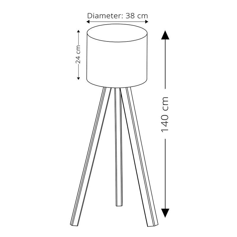 Φωτιστικό δαπέδου PWL-0171 pakoworld Ε27 λευκό-καρυδί Φ38x140εκ