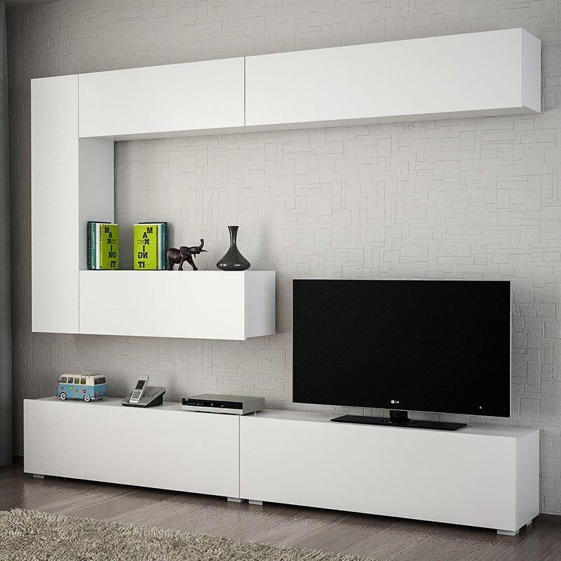 Σύνθετο σαλονιού PWF-0417 pakoworld λευκό 240x31,5x158εκ