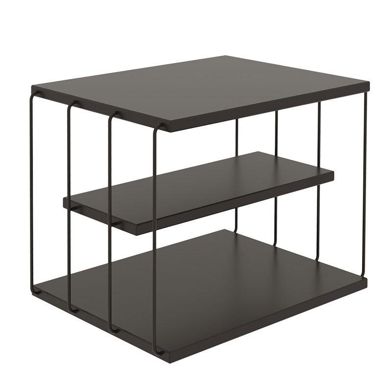 Βοηθητικό τραπέζι σαλονιού PWF-0419 pakoworld μαύρο 50x40x34εκ